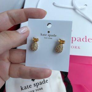 kate spade Jewelry - Kate Spade By The Pool Pineapple Earrings Studs